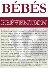 brochure bébés - prévention